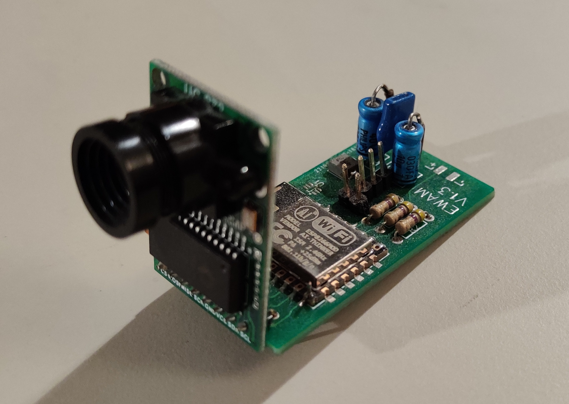 Picture of the Esp Water Meter PCB.
